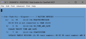 ODT initial halt/load waiting entries
