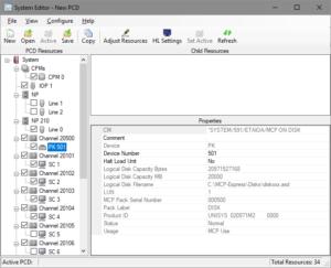 System Editor default configuration