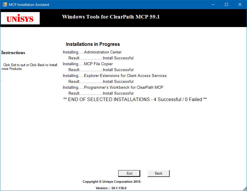 MCP Installation Assistant progress window