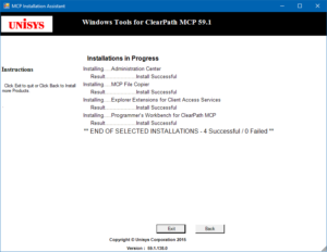 MCP Installation Assistant progress window